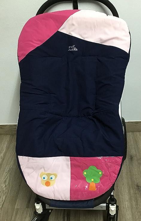 Colchoneta para silla de paseo universal osito rosa. Funda silla de coche. Mundi Bebé