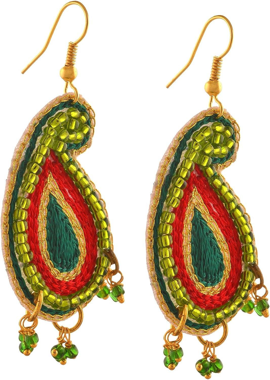 Zephyrr Fashion Handmade Lightweight Beaded Hook Earrings for Girls