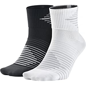 Nike Running DRI-FIT Lightweig, Calcetines para Hombre, Blanco ...