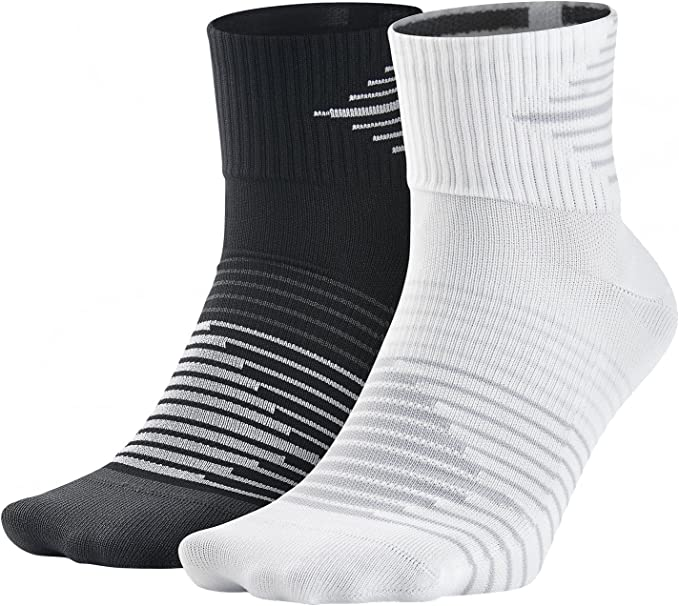 NIKE 2ppk Running Dri-fit Ligh Pack 2 Pares Calcetines, Hombre ...