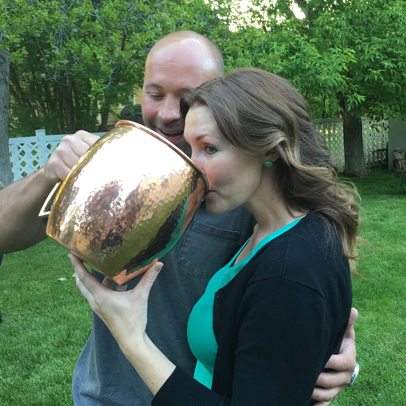 Lifestyle Banquet Giant Moscow Mule Mug (Solid Not Plated) - 1.3 Gallons (166.4 Oz) Extra Large Moscow Mule Copper Mug - Pure Hammered Copper Ice Bucket by Lifestyle Banquet