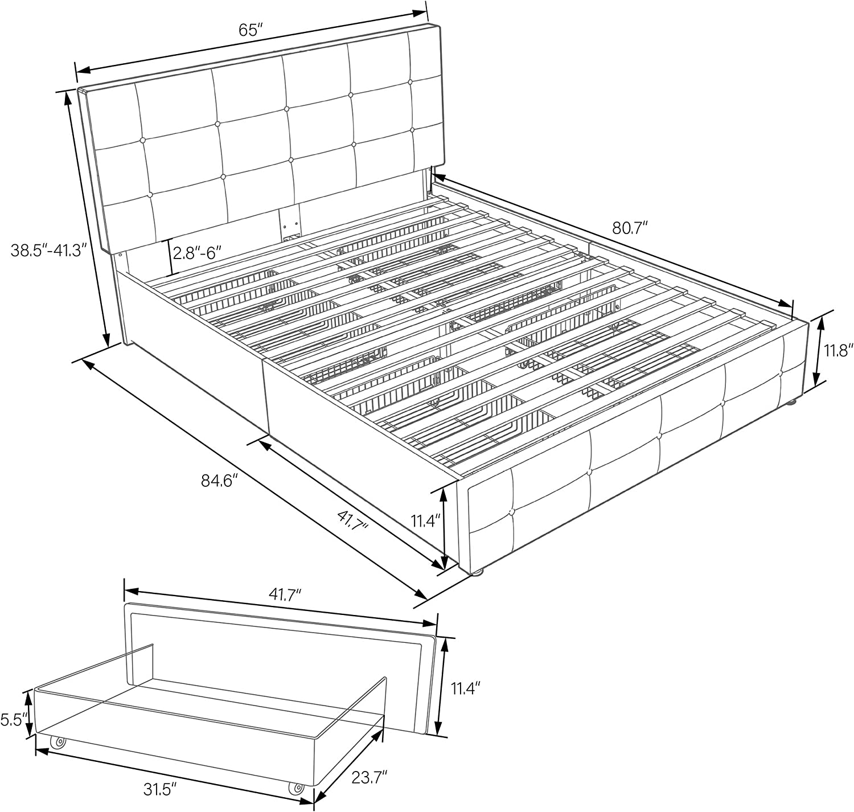 queen bed platform