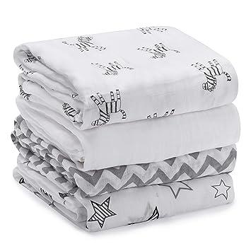 Amazon.com: Momcozy Muslin Baby Swaddle Blankets, Large ...