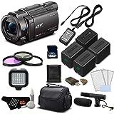 Sony 4K HD Video Recording FDRAX33 Handycam Camcorder- Deluxe Bundle w/Accessories