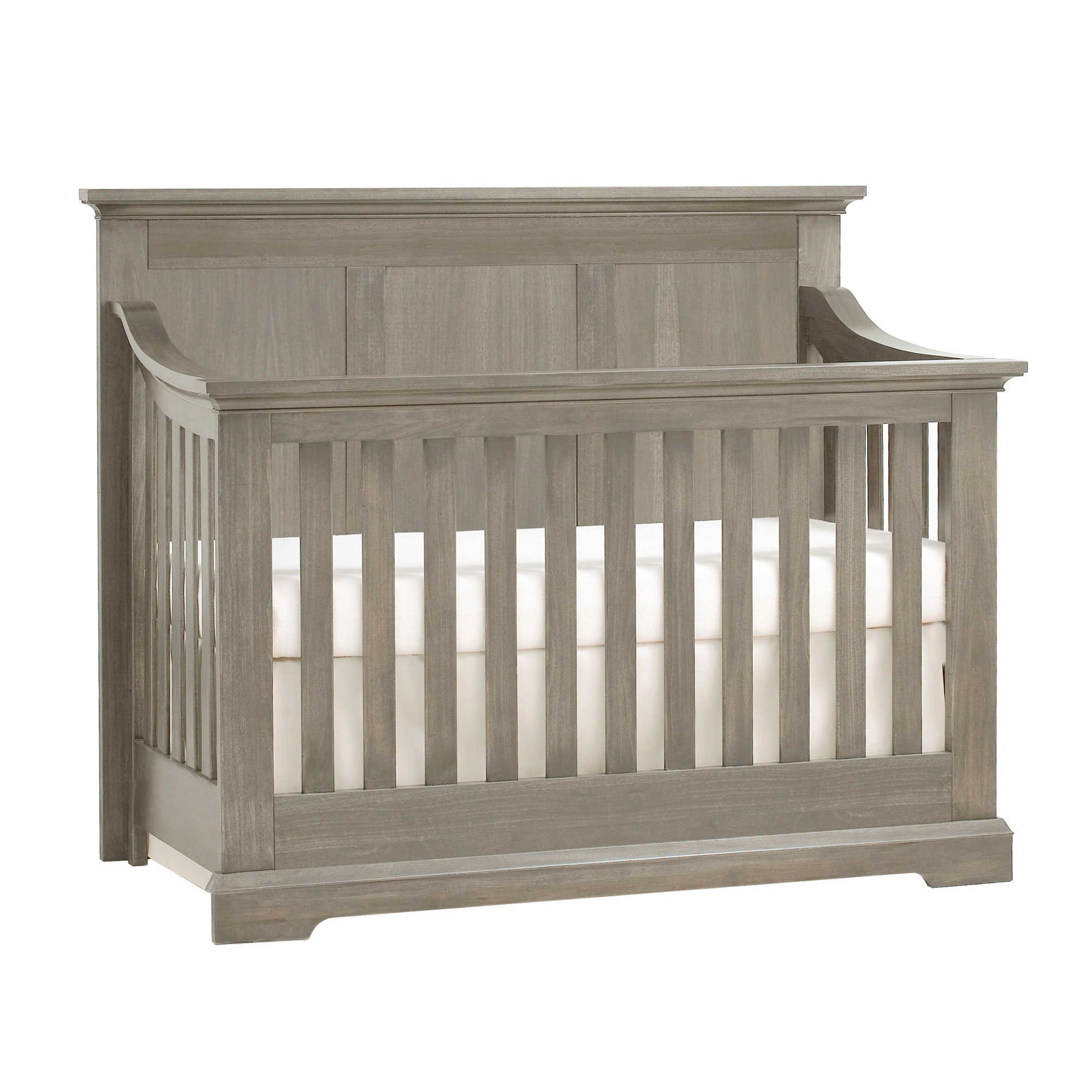 Full Size Conversion Kit Bed Rails for Munire's Kingsley Baby Jackson Crib - Ash Gray by CC KITS (Image #2)