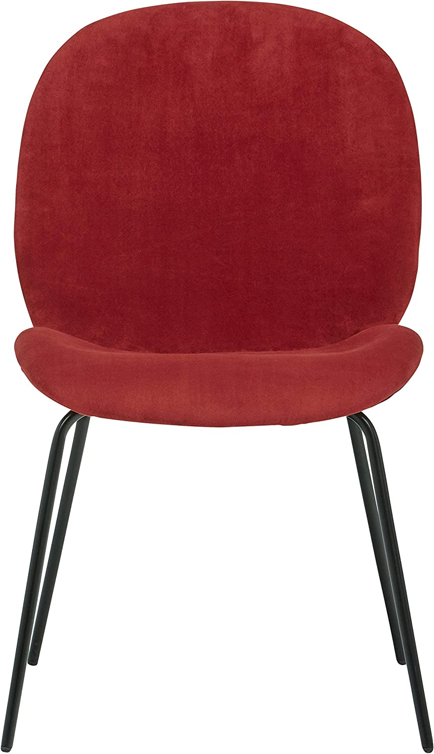 Rivet Weedin Contemporary Velvet Dining Kitchen Chair 33 Inch Height, Set of 2, Rouge Red