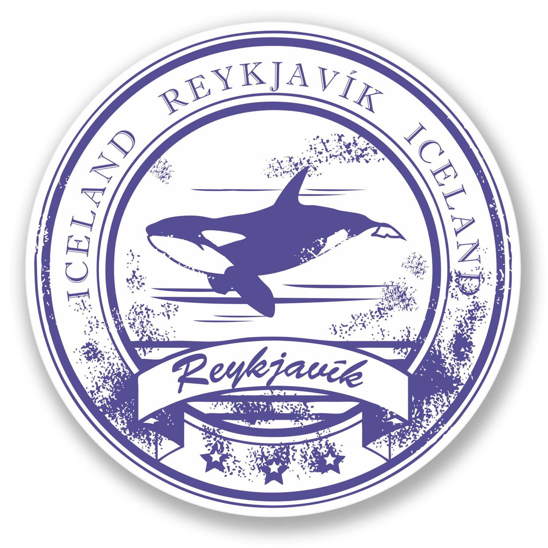 Amazon com 2 x reykjavik iceland stickers everything else