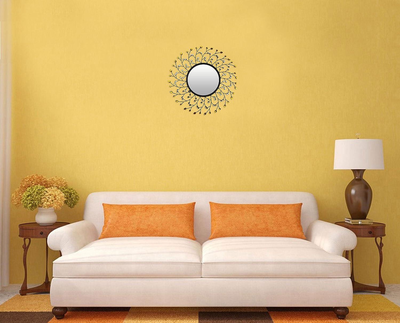 Amazon.com: LuLu Decor Decorative Sun Drop Metal Wall Mirror with ...
