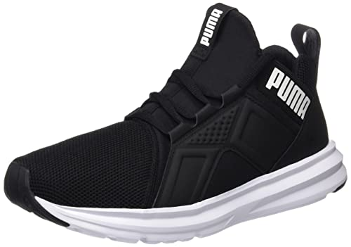 Puma Men s Enzo Mesh Black- White Running Shoes - 7 UK India (40.5 ... 570ab2403