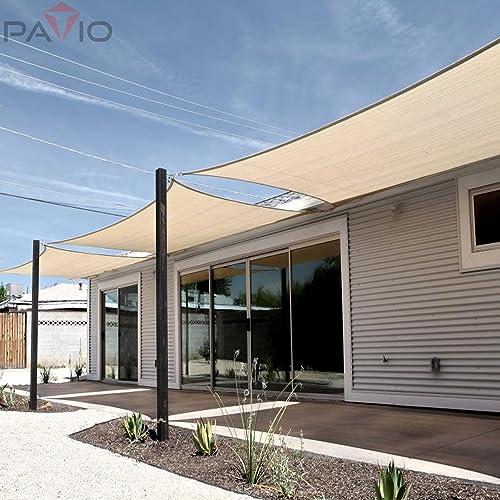 Patio Paradise 24' x 24' x 33.9' Waterproof Sun Shade Sail