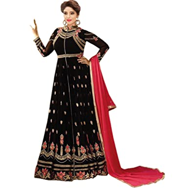 68d6fbdbbc Anarkali for women's ( FASHION CARE Present embroidered work Faux Georgette  Semi-Stitched Anarkali Suit for women's ...