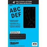 Headline Sign 32411 Stick-On Vinyl Letters, Black, 4-Inch
