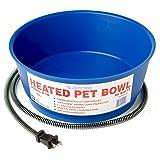 Farm Innovators R-19 Economical 1-1/2-Gallon Round Heated Pet Bowl, 60-Watt, Blue