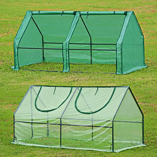 Green House for Plants Outdoor Greenhouse Kit with Roll Up Doors 6x3x3ft Rural365 Portable Greenhouse for Outdoors
