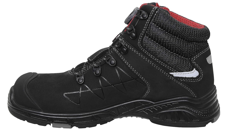 Damen und Herren sportlich Kunststoffkappe Gr/ö/ße 38 leicht JORI Sicherheitsschuhe jo Max BOA Mid S3 Sneaker Schwarz