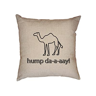Camel Hump Day Funny Hilarious Trendy Decorative Linen Throw Cushion