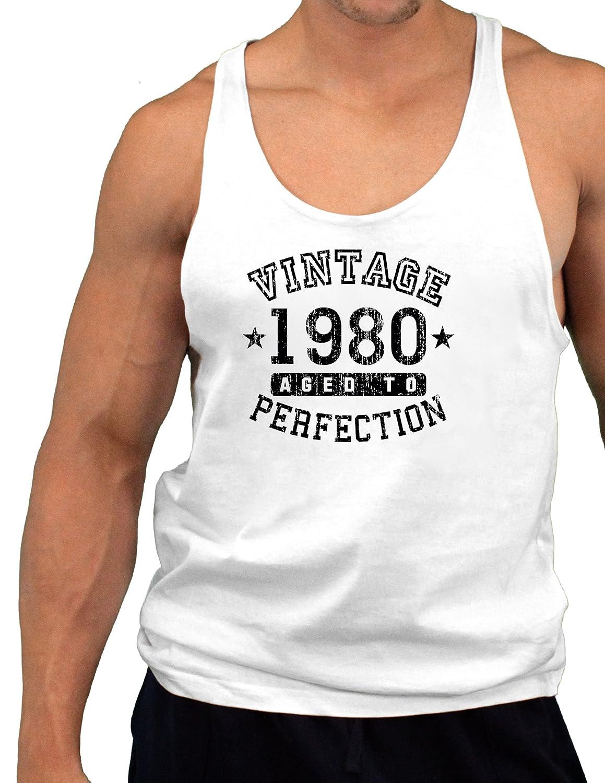 Vintage Birth Year Mens String Tank Top Brand TooLoud 1980