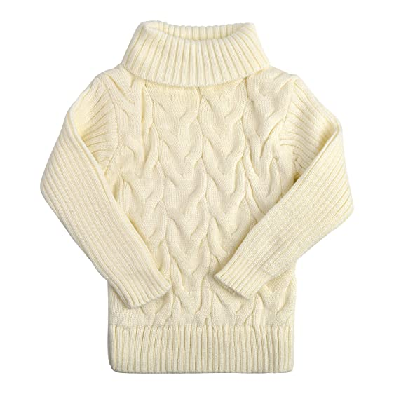 af28c0ceb4 ... sale retailer e6ceb 4e9b8 Baby Girls Christmas High Neck Knitted Sweater  Winter warm Sweater Twist Pullover ...