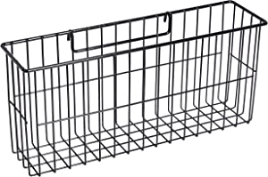AmazonBasics Hanging Basket for Wall Grid Panel, Black