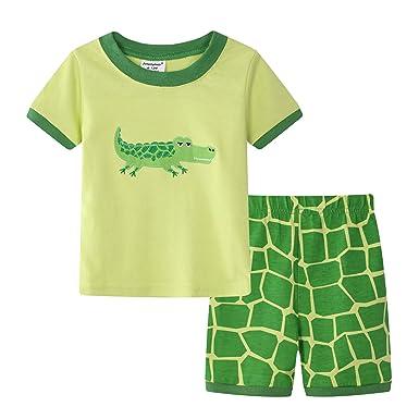 6f2a2398b71de Amooy DiZi Garçon Ensemble Pyjama Crocodile Manches Courtes Vêtements de  Nuit 6 Mois -10 Ans