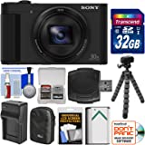 Sony Cyber-Shot DSC-HX80 Wi-Fi Digital Camera with 32GB Card + Case + Battery & Charger + Flex Tripod + Kit