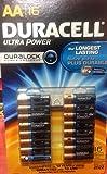 DURACELL ULTRA POWER Alakaline Batteries - Size AA - 16Pack (デュラセル ウルトラ アルカリ 乾電池 単3形 16本 パックパワーチェック付)