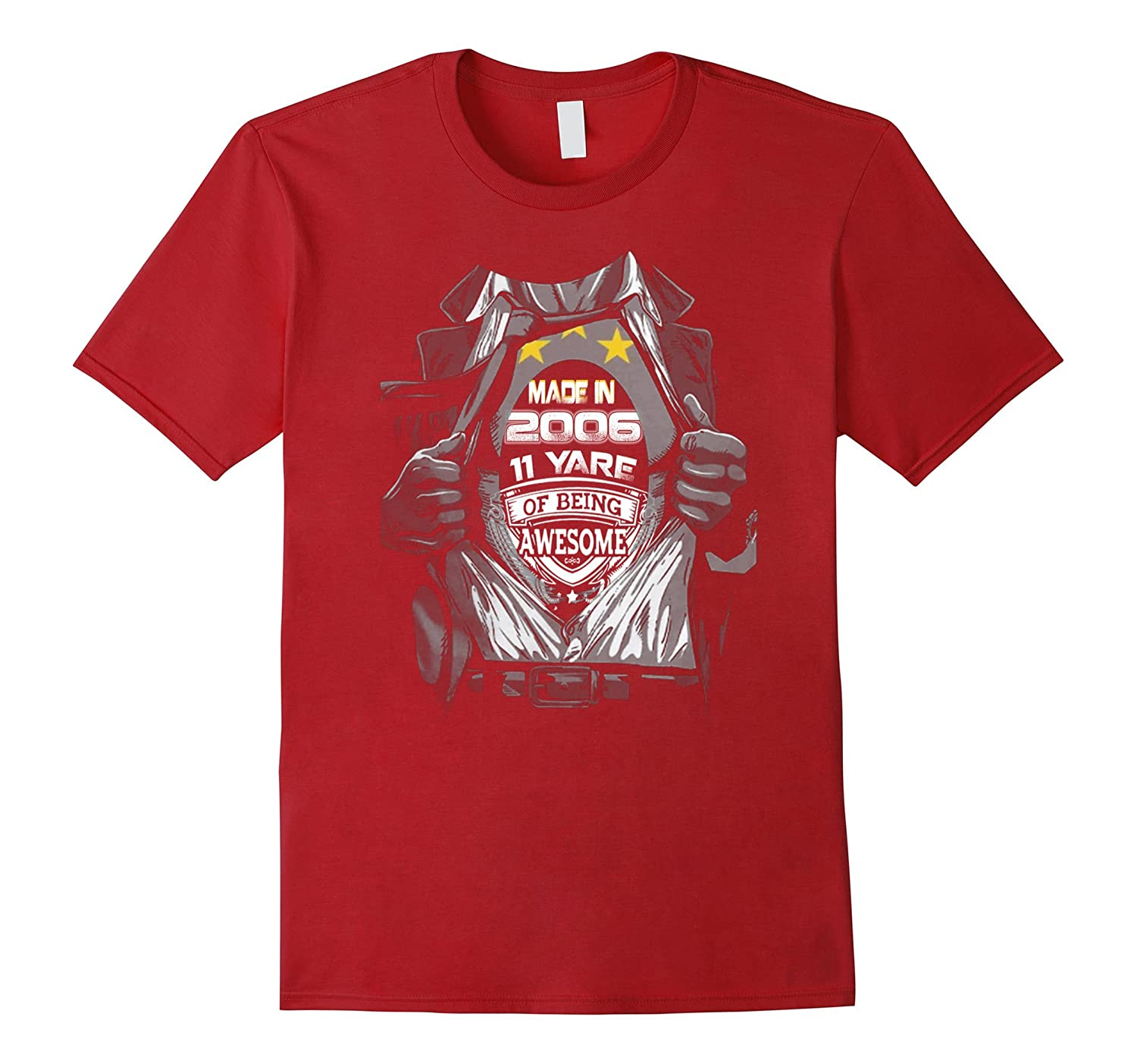 11th birthday Gift Idea 11 Year Old Boy Girl Shirt 2006