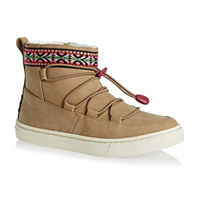 e9b546b8e97 Amazon.com  TOMS Alpine Boot - Girls  Toffee Synthetic Suede