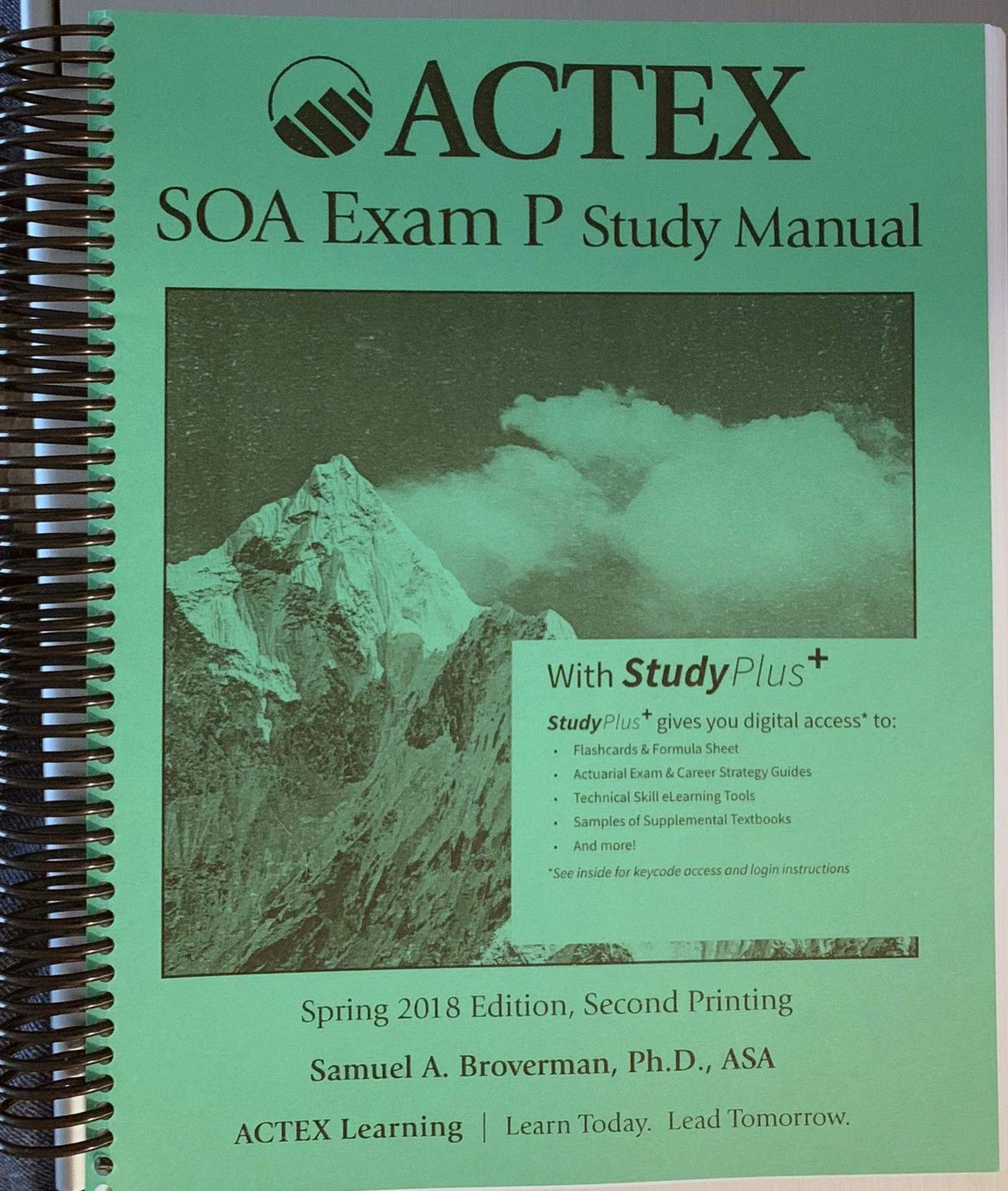 Actex Study Manual:SOA Exam P, CAS Exam 1 - Spring 2018, 2nd Printing:  Samuel A. Broverman: 9781635884470: Amazon.com: Books