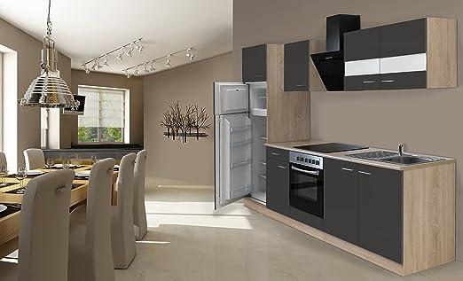 respekta Instalación de Cocina Cocina 270 cm Roble Gris Incluye ...