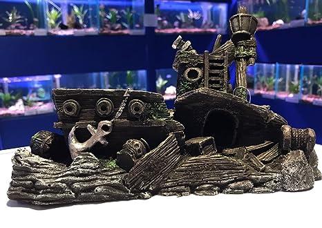 Adorno de acuario clásico para peceras, 27 cm, 1 pieza