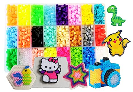 Amazon Vytung Fuse Beads Kit60pcs 60Colors60 Glow In Dark Inspiration Fuse Beads Patterns