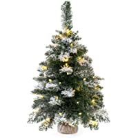Best Choice Products Pre-Lit Tabletop Fir Artifical Christmas Tree Decor w/LED Lights, Timer