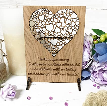 Wedding Sign Memorial for Heaven Loved Ones   we Remember The one   in  Loving Memory for Candle/Cards Table Alternative to Card Signs/Rustic Wood