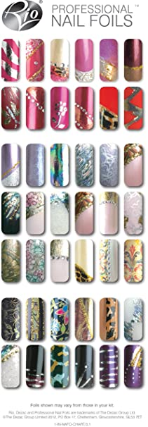 Rio professional nail art foils amazon beauty prinsesfo Gallery
