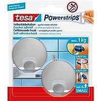 tesa Powerstrips Hooks S metal round, klein, Metaal
