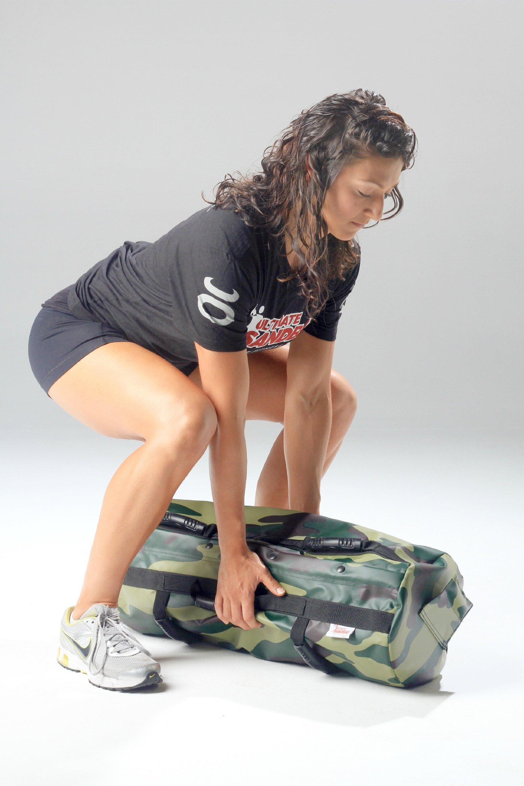 Ultimate Sandbag Training Strength Package - Camouflage Adjustable Fitness Sandbag with Filler Bags 40-80lbs by Ultimate Sandbag (Image #2)