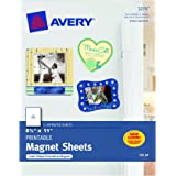 "Avery Magnet Sheets, 8.5"" x 11"", White (03270)"