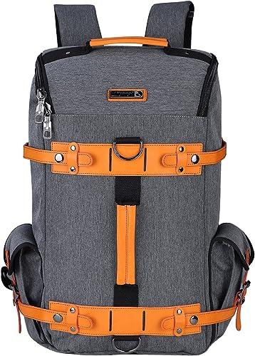 WITZMAN Large Travel Backpack Water Resistant Nylon Rucksack Casual Daypack 6685