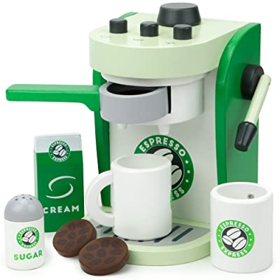Imagination Generation Espresso Express Coffee Maker Playset, with 2 Cups, 2 Pods, 1 Portafilter, 1 Coffee Maker, Cream & Sugar (8 Pcs): Toys & Games