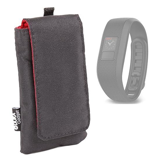 Duragadget Housse étui Noir rembourré pour Montre connectée Tomtom Touch, Garmin Vivoactive HR et Vivofit 3, OUKITEL A28 SmartWatch, Jawbone UP2 et ...