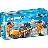 Playmobil 5396 - Veicolo Trasporto Bagagli con Addetti Pista, 2 Pezzi