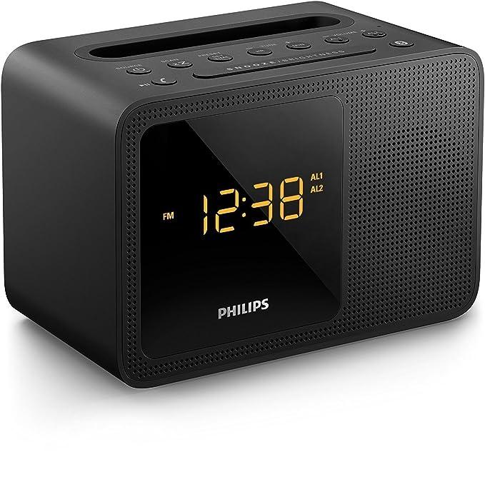Radio Reloj Despertador PHILIPS AJT5300/37 con Bluetooth: Amazon.es: Electrónica