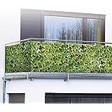WENKO Protection visuelle photo pour le balcon, vin sauvage 1200287