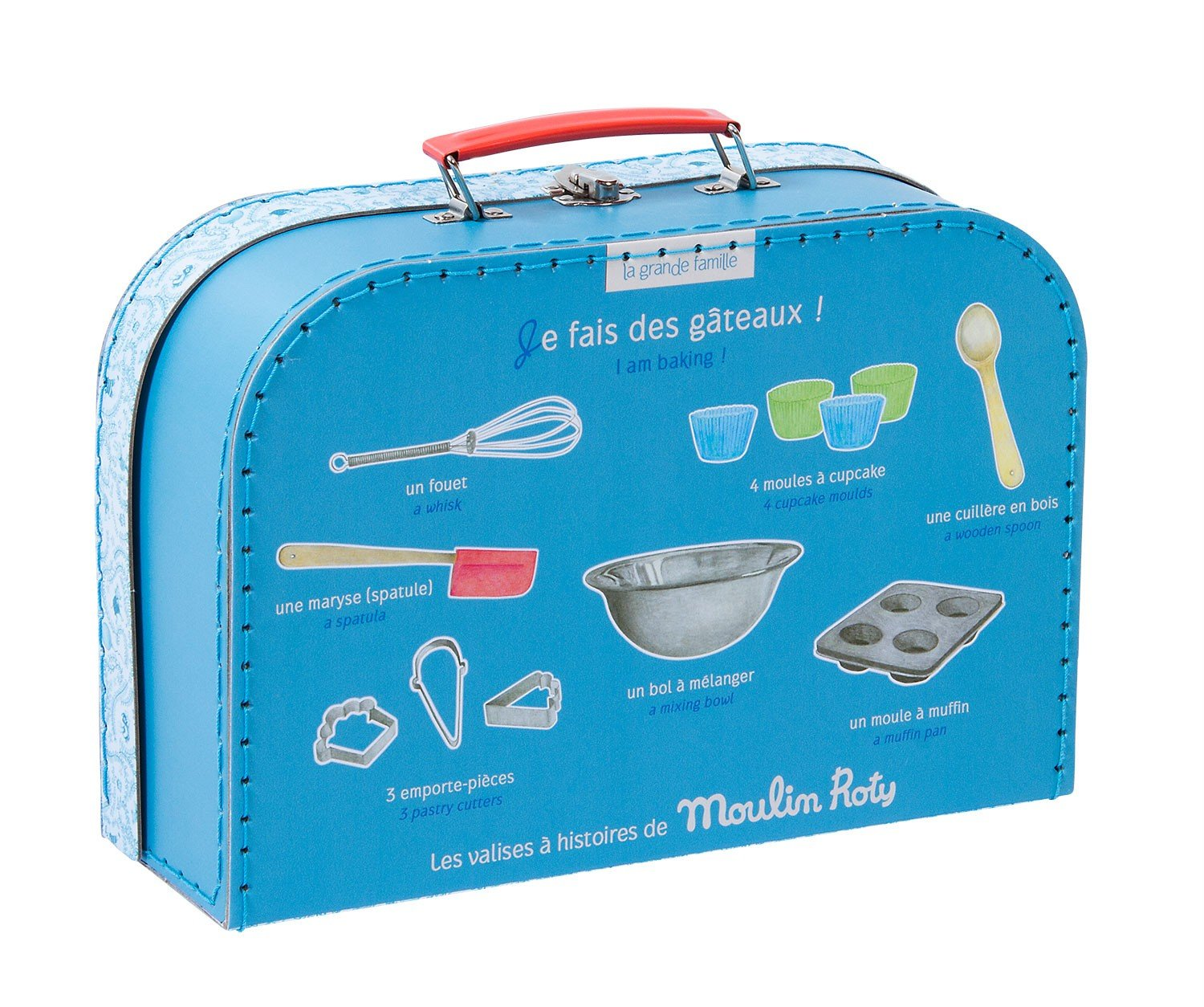 Moulin Roty Je Fais Des Gateaux ''I Am Baking Pastries!'' Child Sized Cooking Tools Toy Set in Carry Suitcase by Le Grande Famille (Image #3)