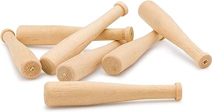 "18"" Craft Quality Blemished Wood Mini Baseball Bats Bundle 20 Count"