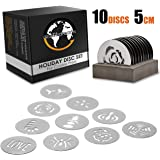 Earth's Dreams Holiday Cookie Press Discs – 10 Piece Stainless Steel Cookie Disc Set for All Popular 5cm Cookie Press…