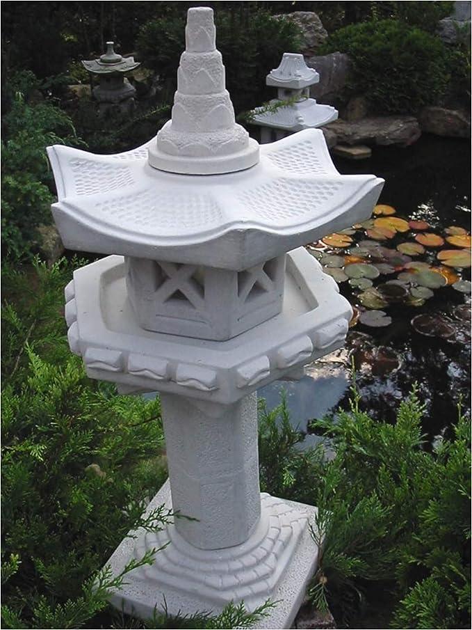 Pajarera columna en piedra Pagoda: Amazon.es: Jardín