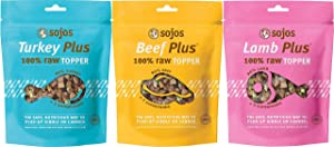 SOJOS Raw Dog Food Topper (Pack of 3 Flavors)