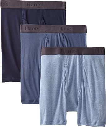 Hanes Ultimate Men's 3-Pack FreshIQ X-Temp Boxer with ComfortFlex Waistband Briefs
